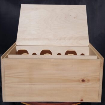 12 Bottle Wine Chest – 3/4″ Wood