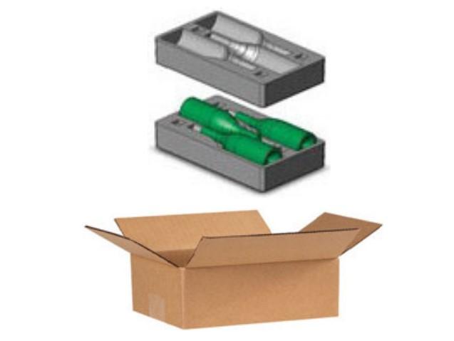 3 Magnum Bottle Foam Package