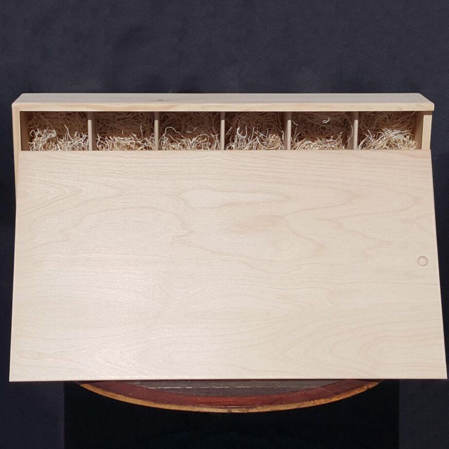 6 Bottle Wine Crate – 1/2″ Wood