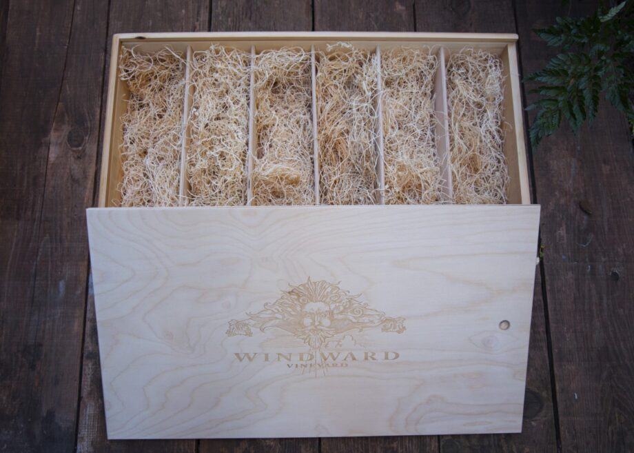 6 Bottle Wine Crate – 1/2″ Wood - Engraved Example
