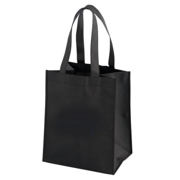 Non Woven Reusable Shopping Bag Black