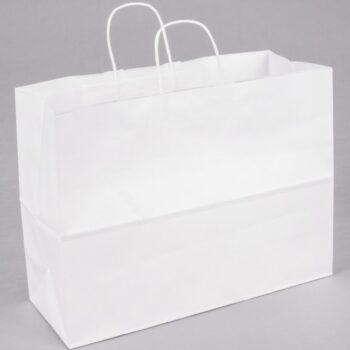 Paper Handle Bag White Tote