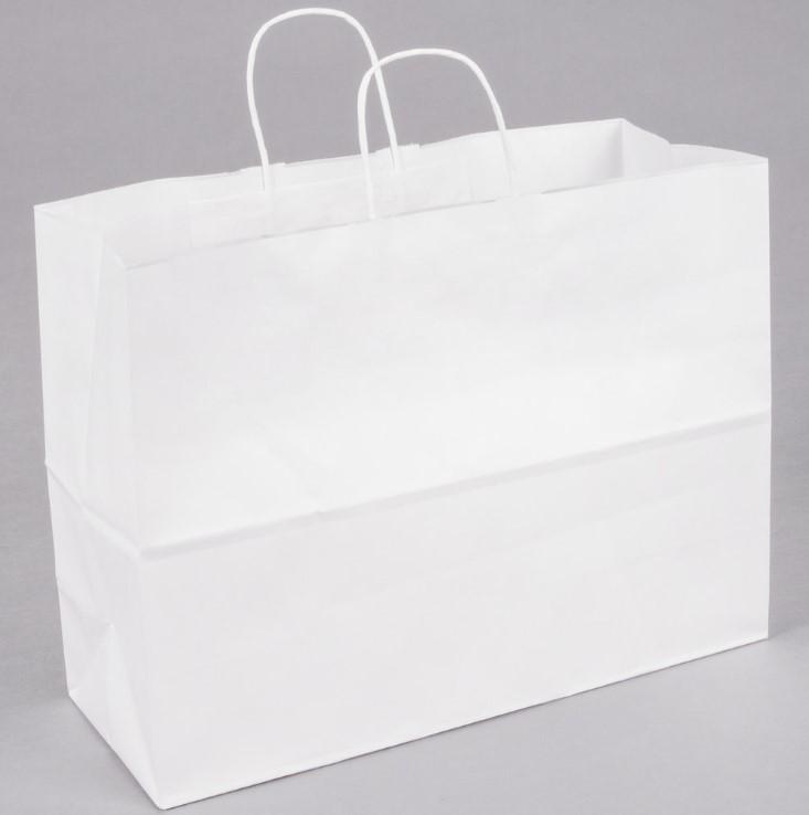 Paper Handle Bag White Tote