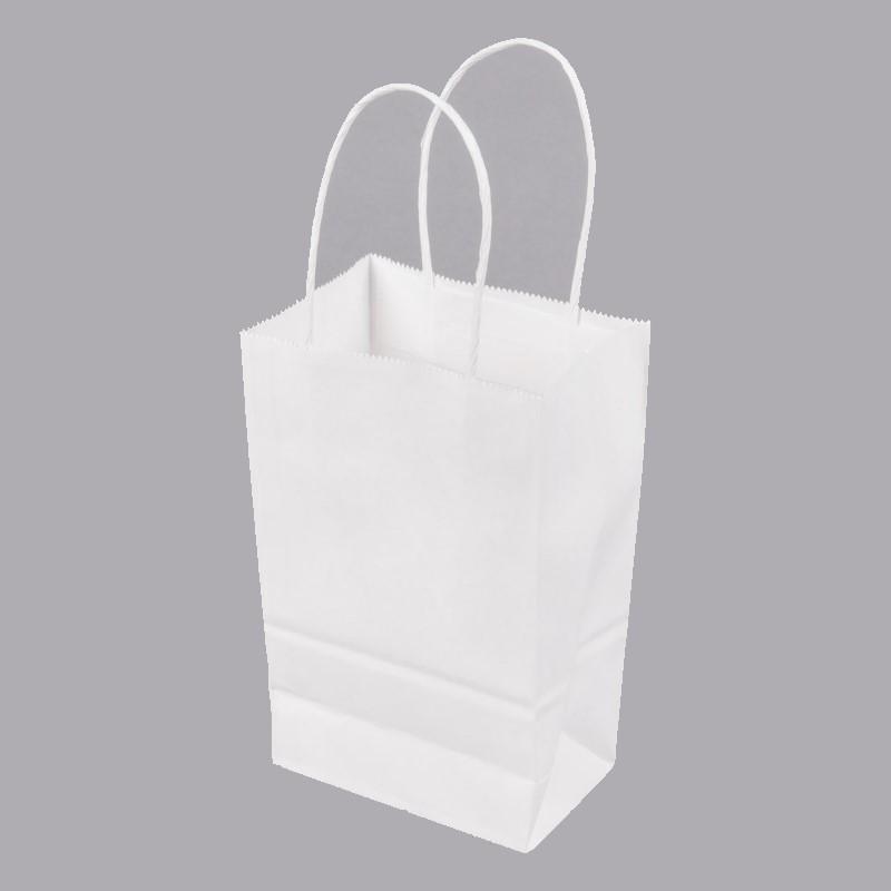 Paper Handle Bag GEM-White