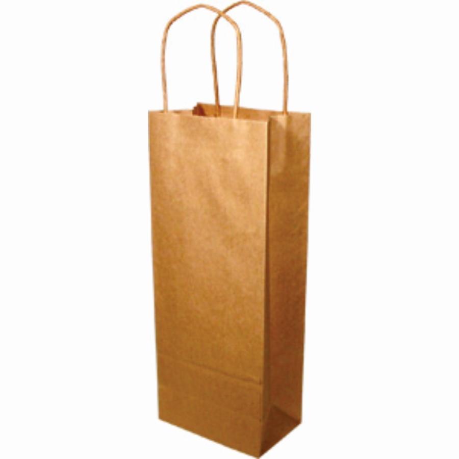 Paper Handle Bags (Vino) - Kraft