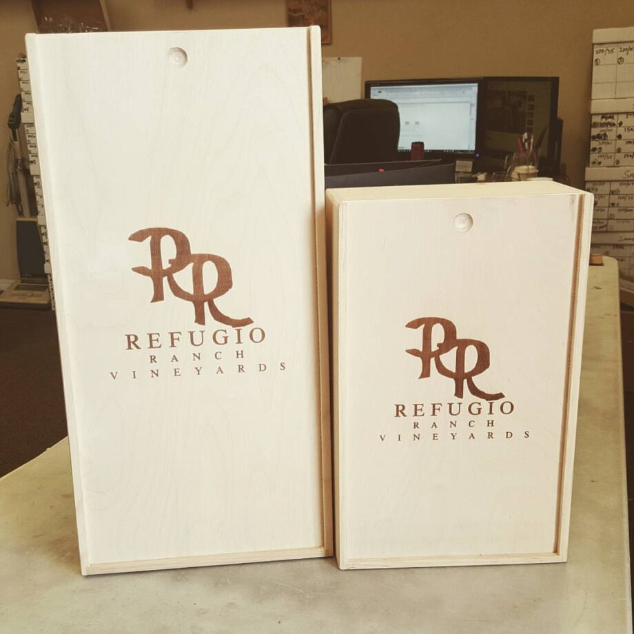 Etching-Two Wine Crate Sizes