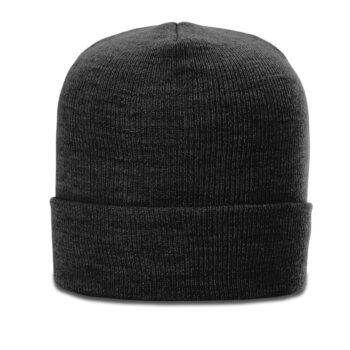 137 Heathered Beanie with Cuff Black