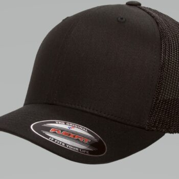 6511 Retro Trucker Black Cap