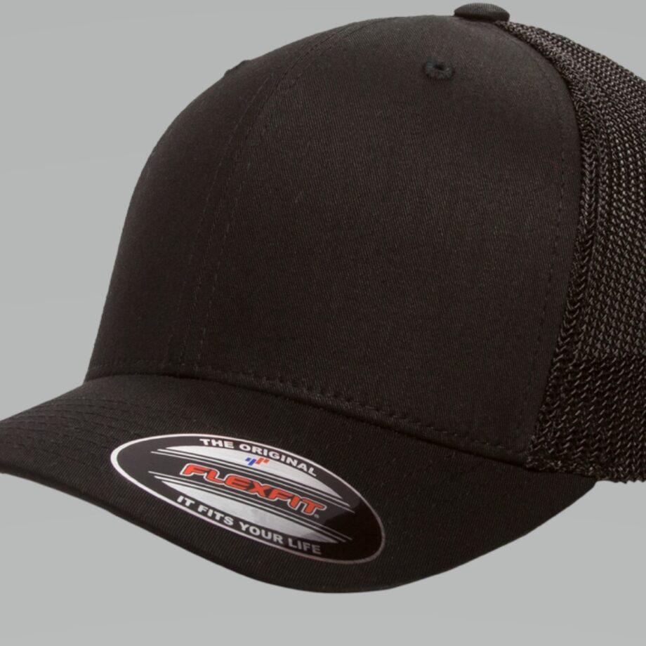 6511 Retro Trucker Black Cap