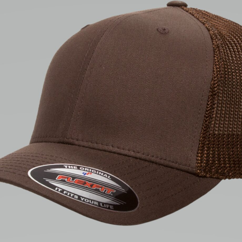 6511 Retro Trucker Brown Cap
