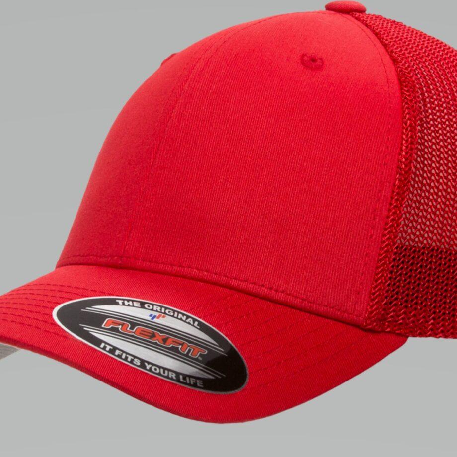 6511 Retro Trucker Red Cap