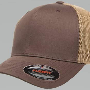6511T Brown Khaki Flexfit Retro Trucker Two-Tone Cap