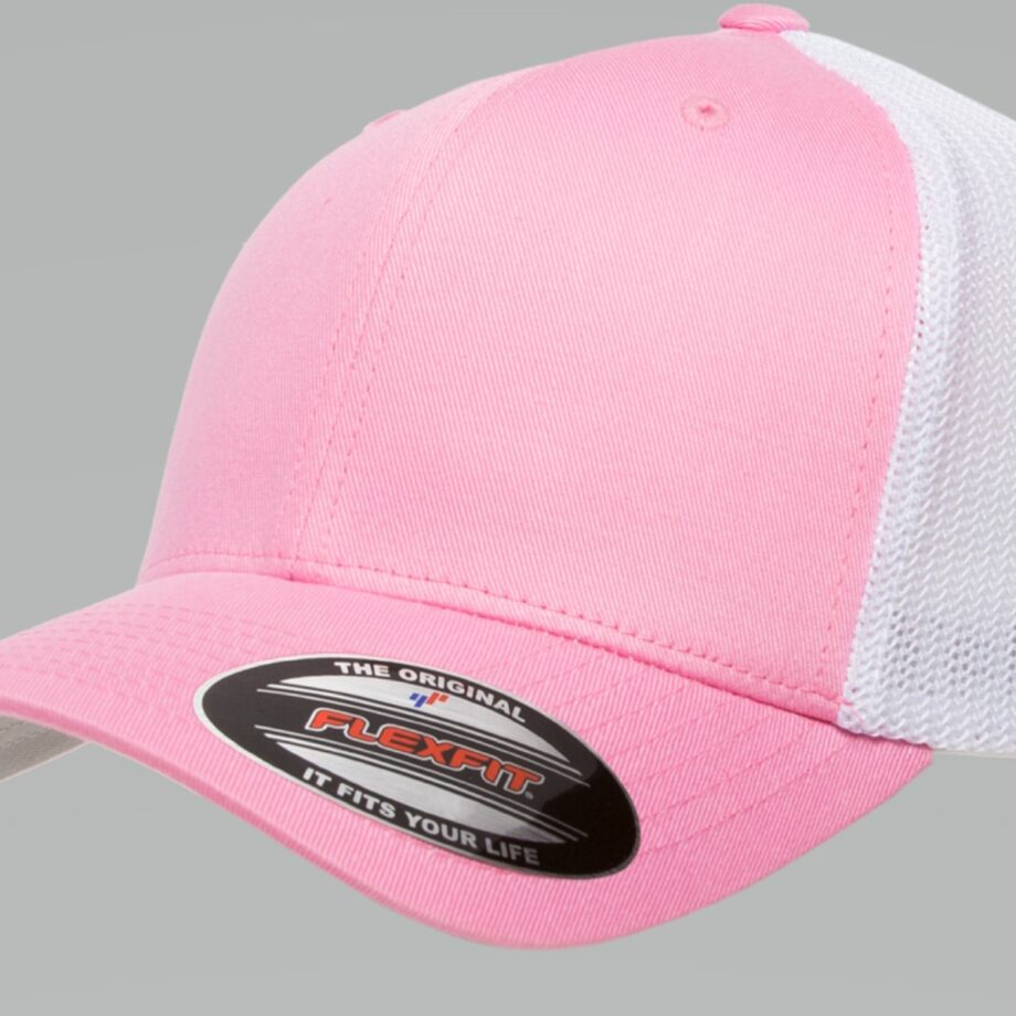 6511T Pink White Flexfit Retro Trucker Two-Tone Cap