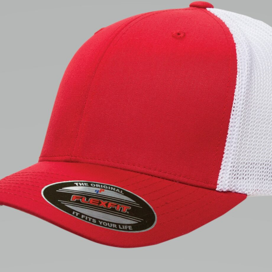 6511T Red White Flexfit Retro Trucker Two-Tone Cap