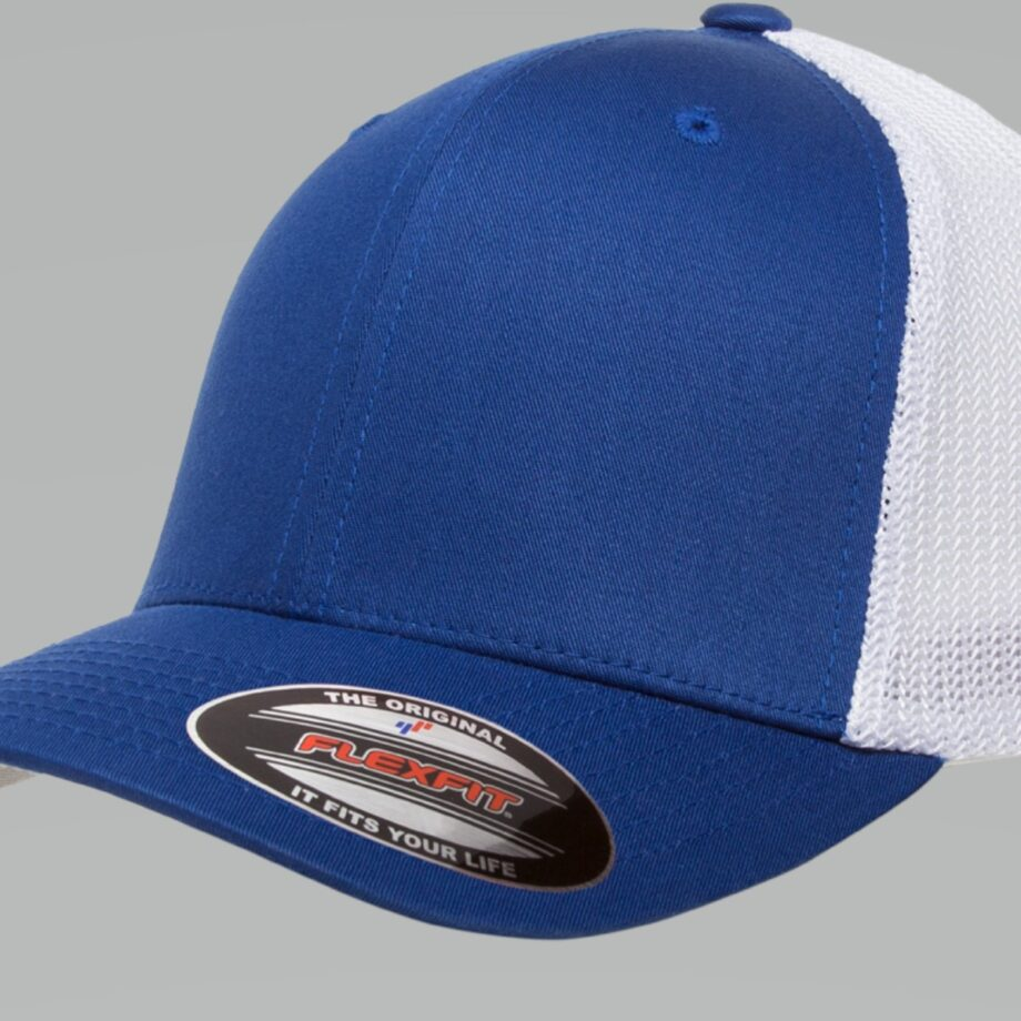 6511T Royal White Flexfit Retro Trucker Two-Tone Cap