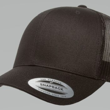 6606 Black Retro Trucker Cap