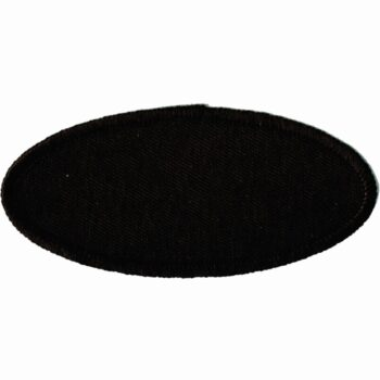 "Oval-Patch-1-5/8""x3-5/8""-Black-with-Black"