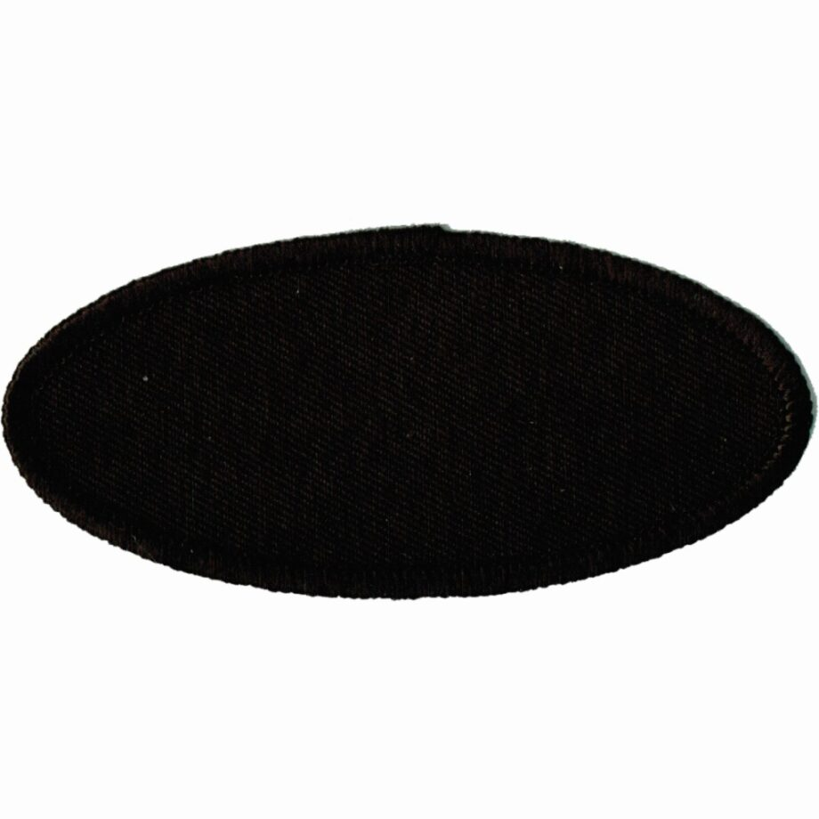 """Oval-Patch-1-5/8""""x3-5/8""""-Black-with-Black"""