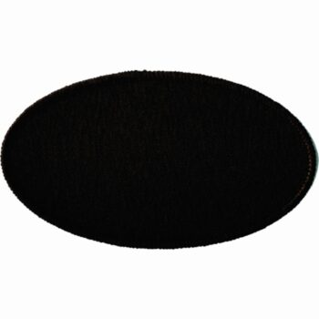 "Oval-Patch-2-1/2""x4-1/2""-Black-with-Black"