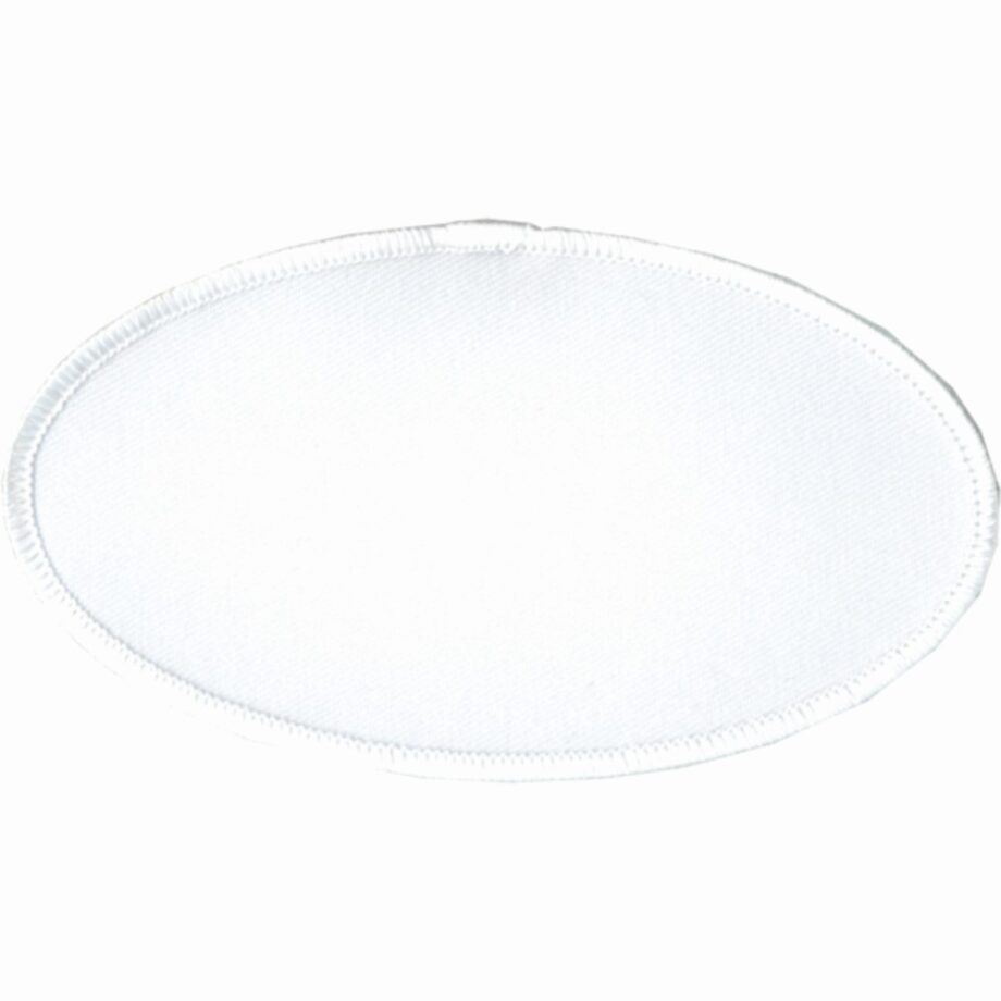 "Oval-Patch-2-1/2""x4-1/2""-White-with-White"