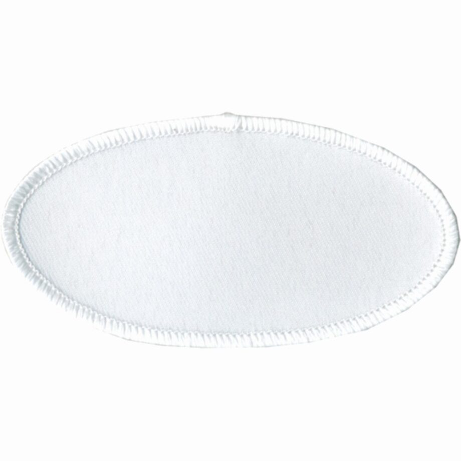 "Oval-Patch-2""x4""-White-with-White"