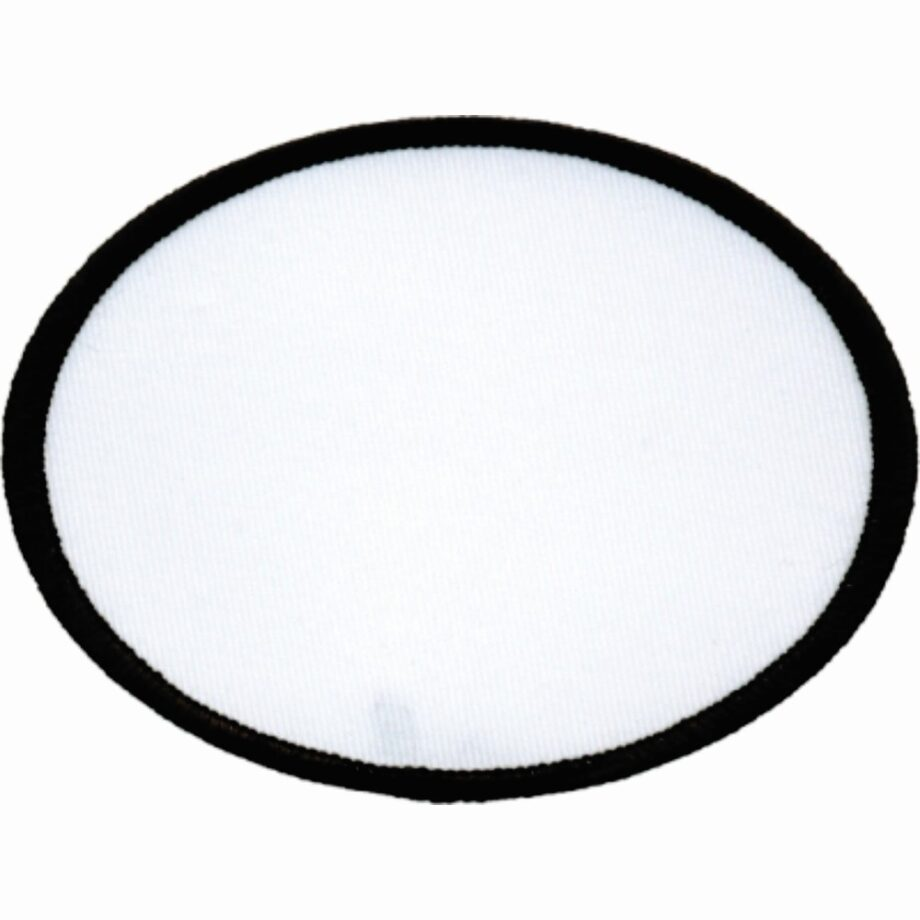"Oval-Patch-3""x4""-White-with-Black"