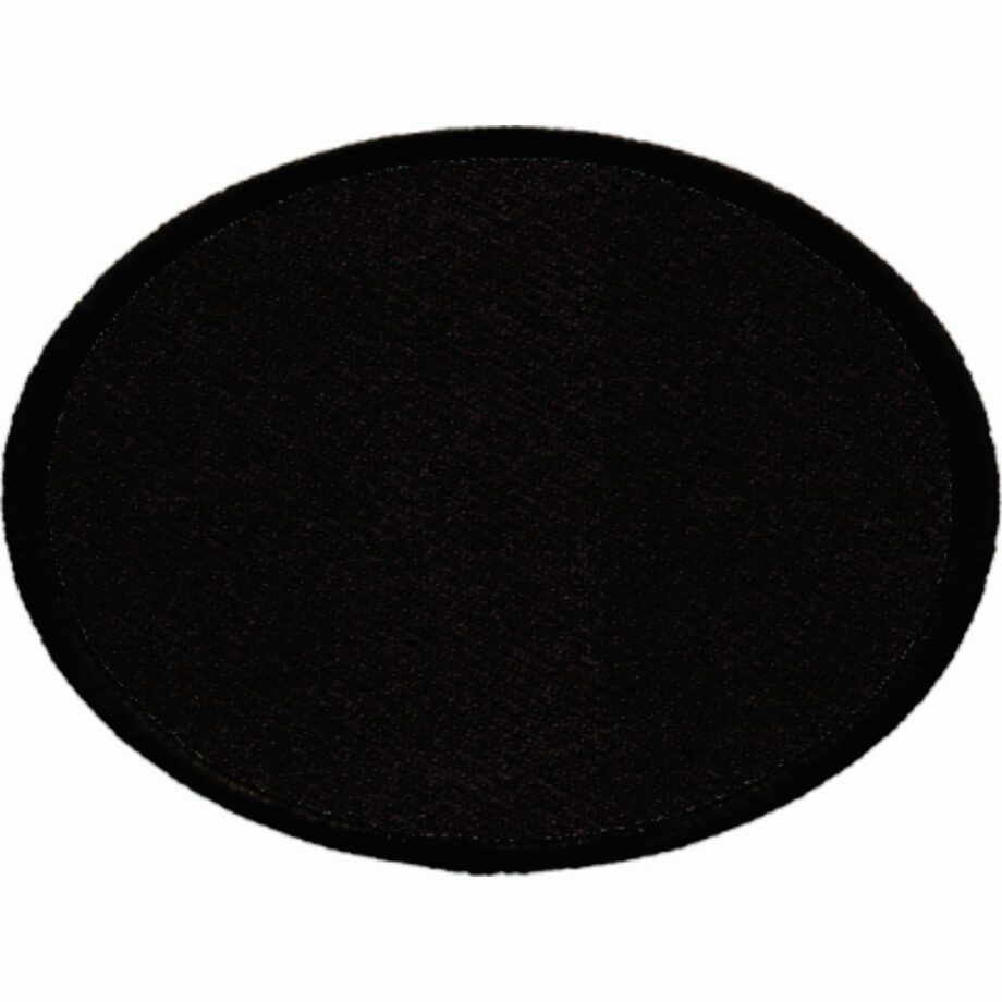 "Oval-Patch-3""x4""-Black-with-Black"