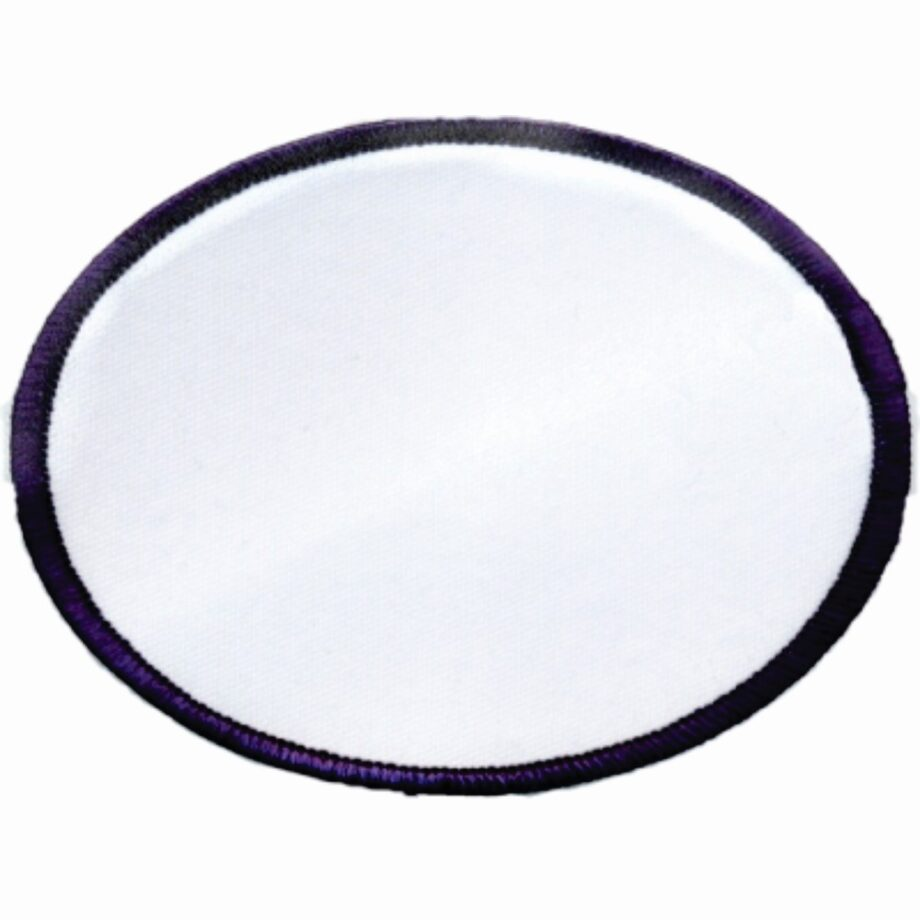 "Oval-Patch-3""x4""-White-with-Navy"