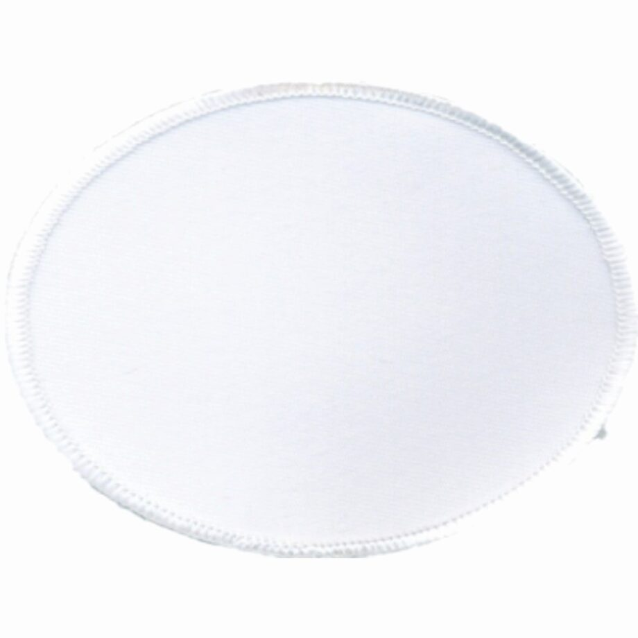 "Oval-Patch-3""x4""-White-with-White"