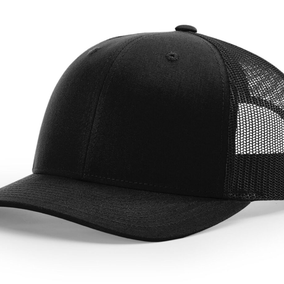 R112 Richardson Trucker Cap Black