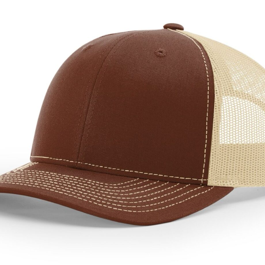 R112 Richardson Trucker Cap Brown and Khaki