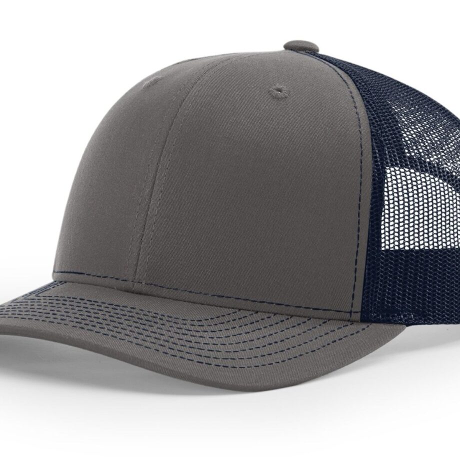R112 Richardson Trucker Cap Charcoal and Navy