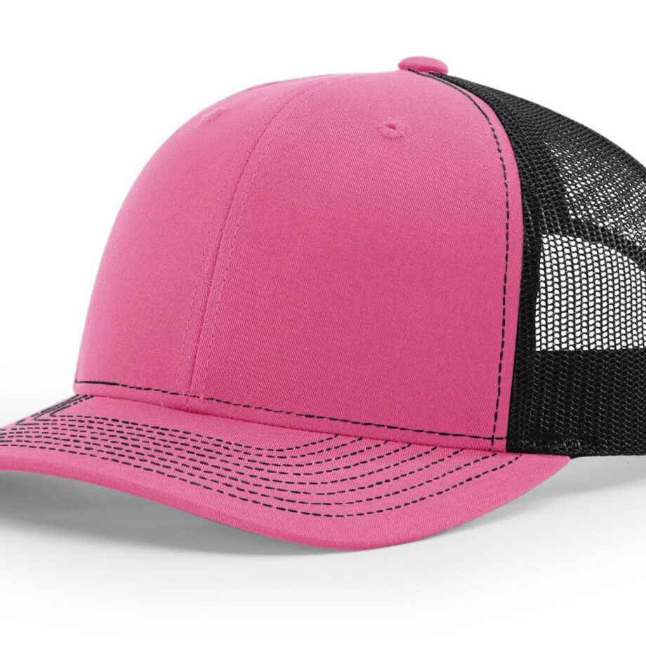 R112 Richardson Trucker Cap Hot Pink and Black