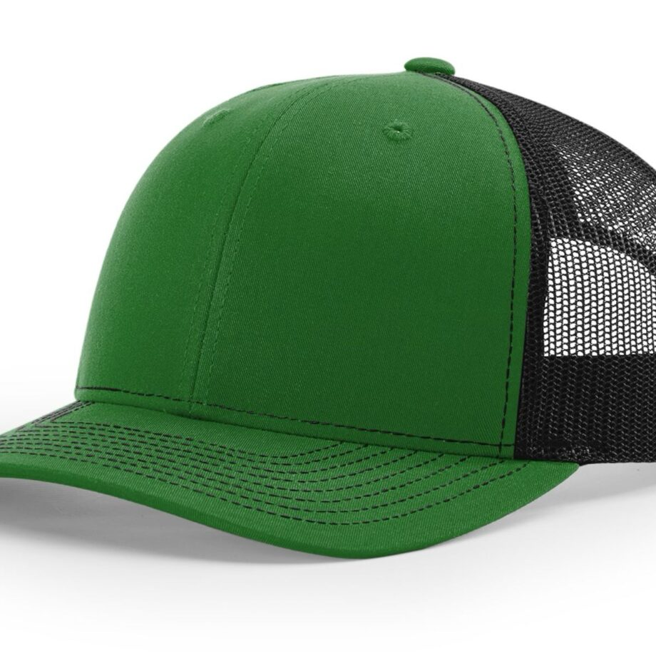 R112 Richardson Trucker Cap Kelly and Black