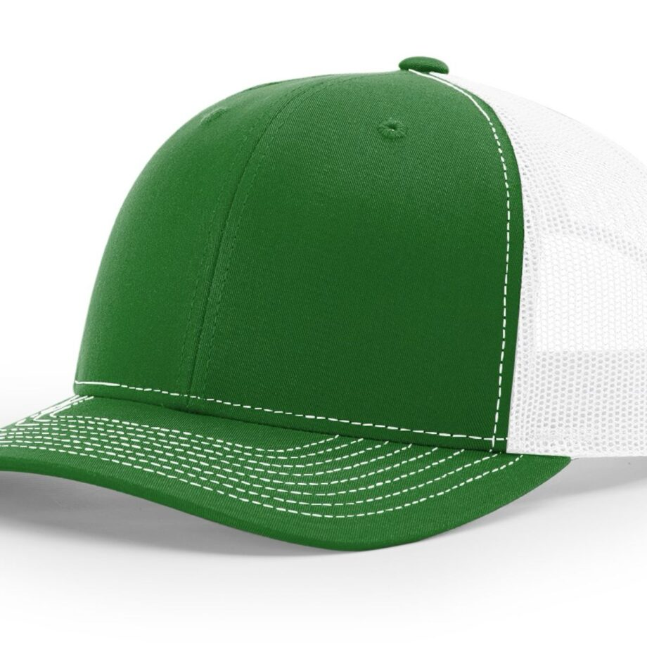 R112 Richardson Trucker Cap Kelly and White