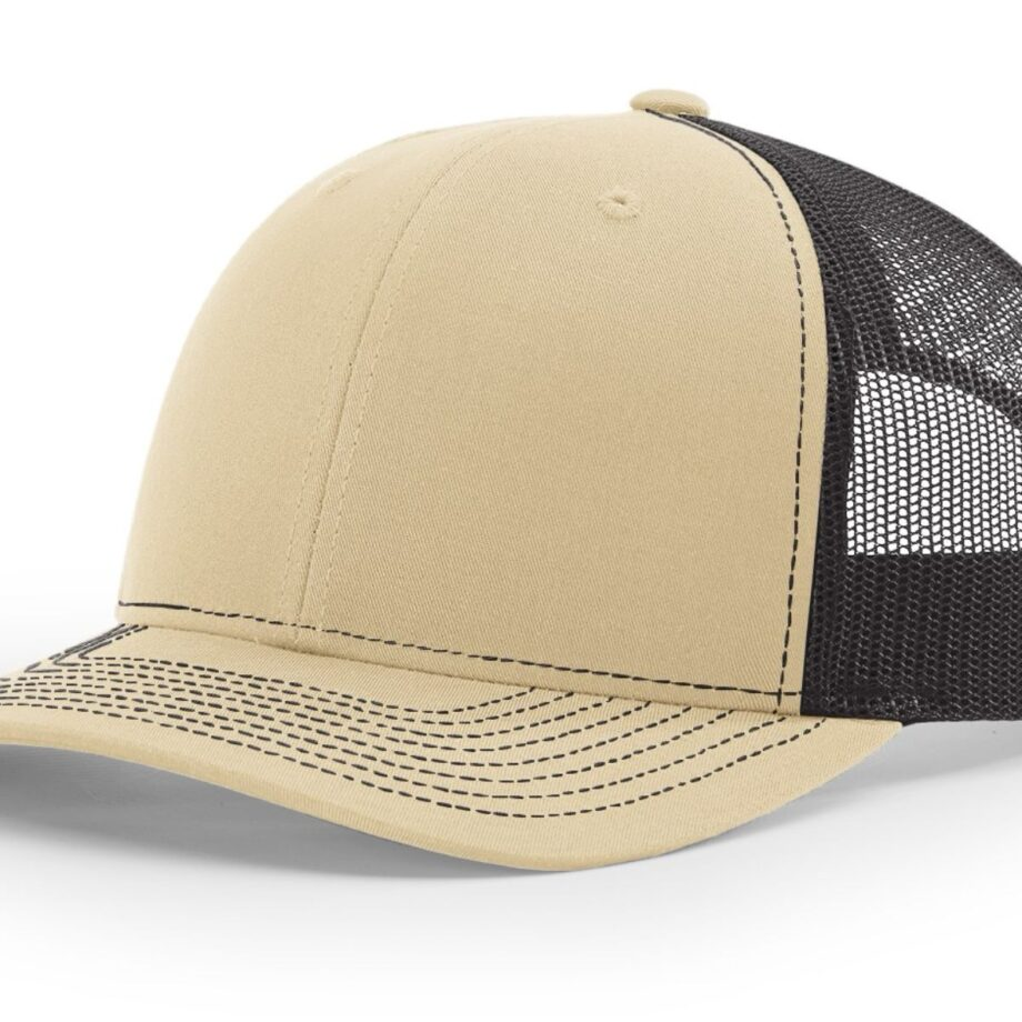 R112 Richardson Trucker Cap Khaki and Coffee