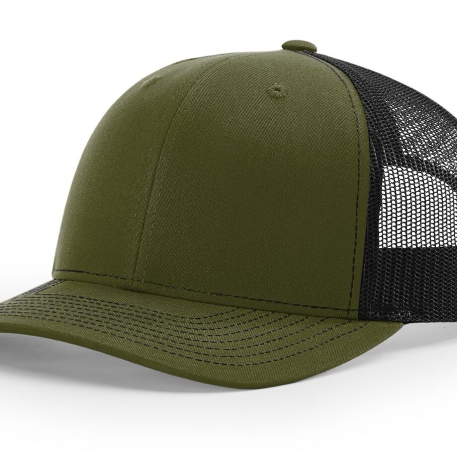 R112 Richardson Trucker Cap Logan and Black