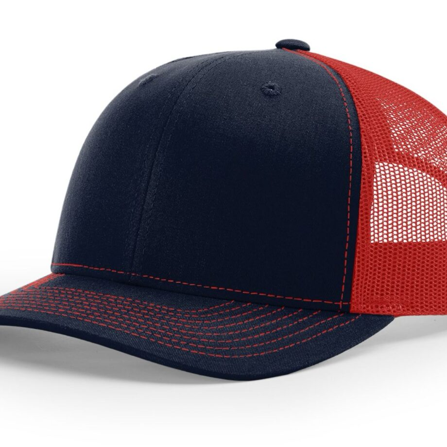 R112 Richardson Trucker Cap Navy and Red
