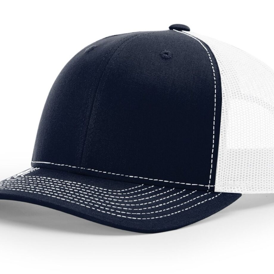 R112 Richardson Trucker Cap Navy and White