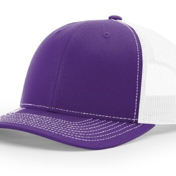 R112 Richardson Trucker Cap Purple and White