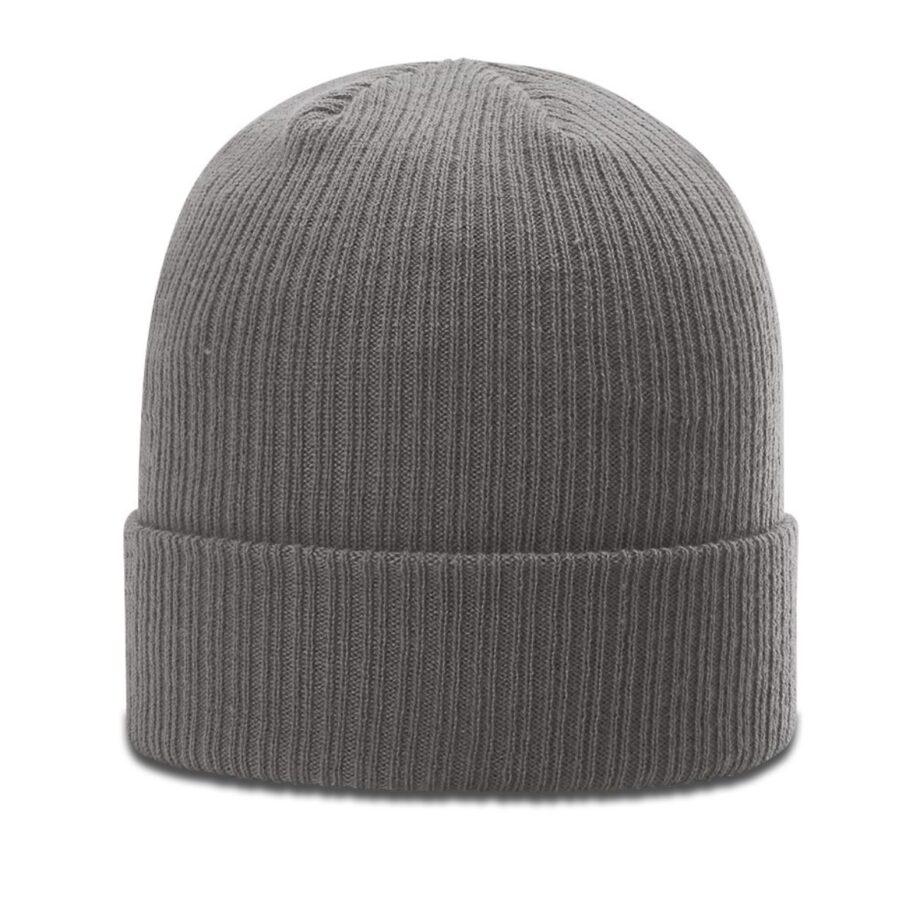 R119 Rib Knit Beanie Charcoal with Cuff