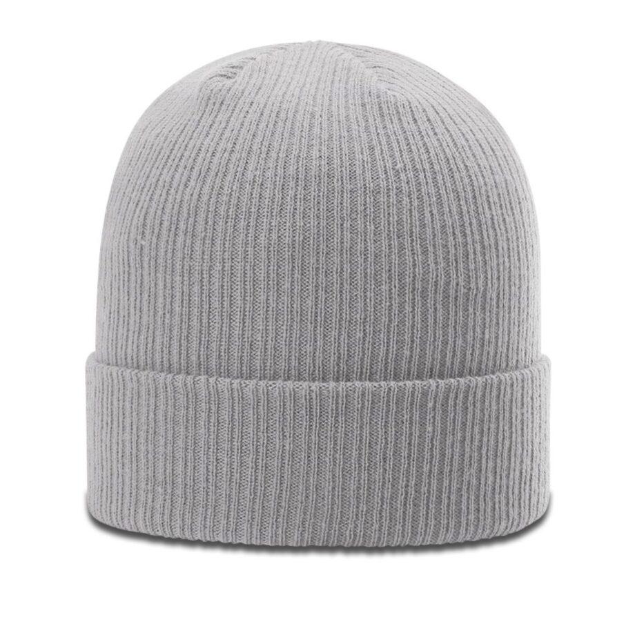 R119 Rib Knit Beanie Grey with Cuff