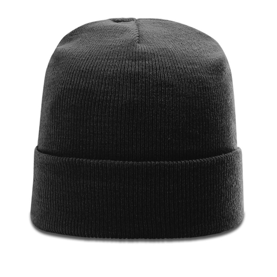 R18 Solid Knit Beanie with Cuff Black