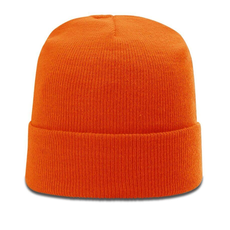 R18 Solid Knit Beanie with Cuff Blaze Orange