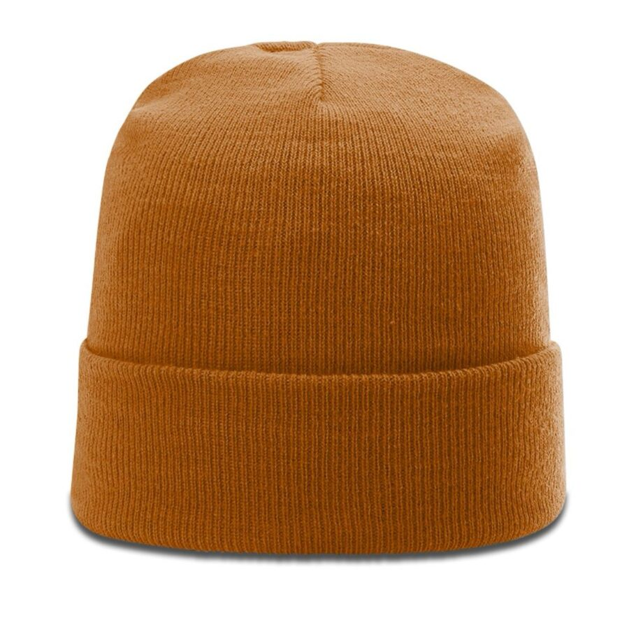 R18 Solid Knit Beanie with Cuff Burnt Orange