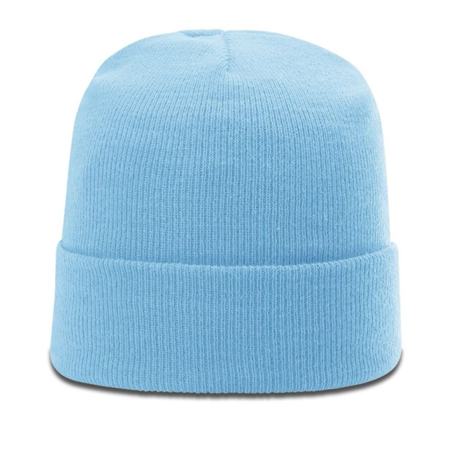 R18 Solid Knit Beanie with Cuff Columbia Blue