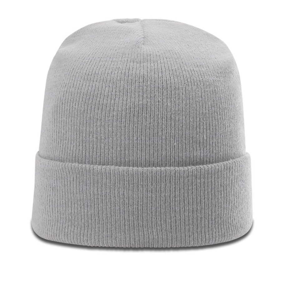 R18 Solid Knit Beanie with Cuff Grey