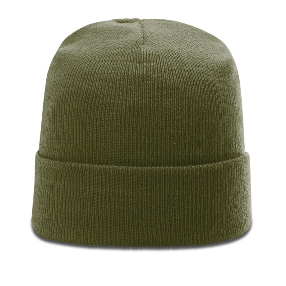 R18 Solid Knit Beanie with Cuff Loden