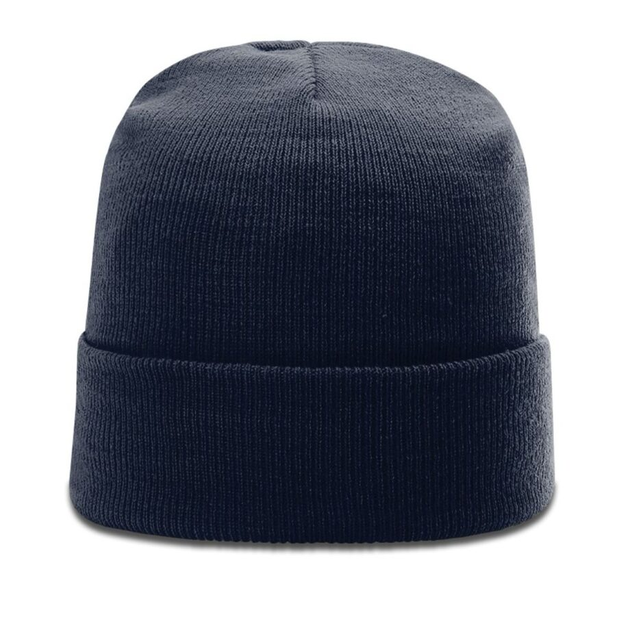 R18 Solid Knit Beanie with Cuff Navy