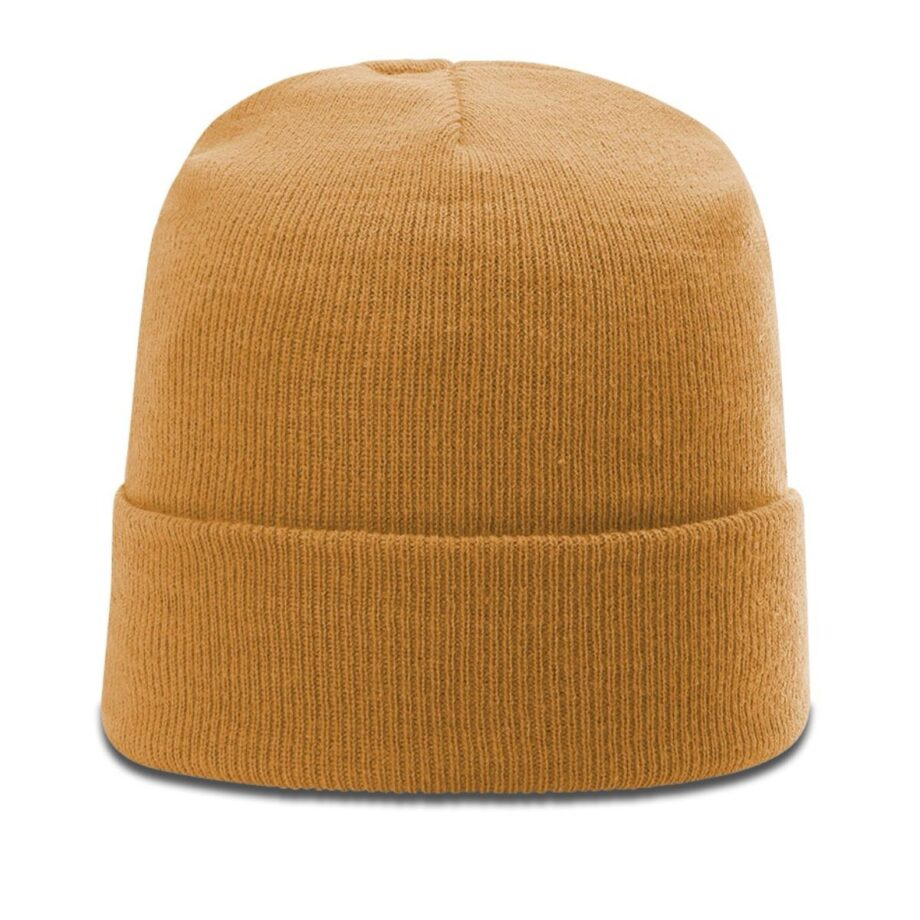 R18 Solid Knit Beanie with Cuff Wheat
